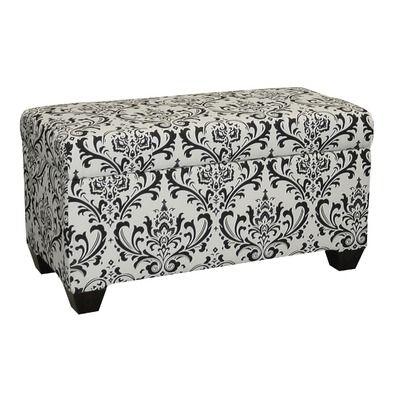 Upholstered Bedroom Storage damask Ottoman Pink Purple and