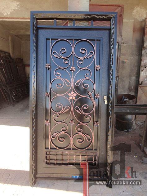 اجمل واحدث ديكورات ابواب حديد مشغول و بوابات حديد 2014 من اعملنا Door Design Doors Design