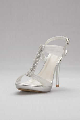 007931320b9bf Crystal T-Strap High Heel Sandals Style BELIZE12, Silver, 8.5 in ...