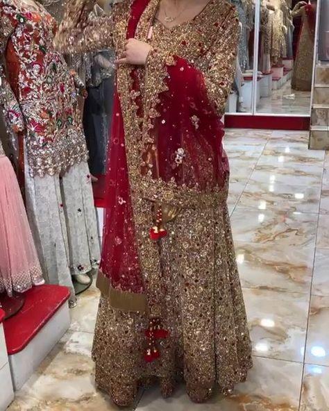"Pakistani Bride on Instagram: ""Gorgeous via @7aatrang ✨ #pakistanibride #lehenga #bridallehenga #redlehenga #traditionalbride #pakistanidesigner #weddinglehenga…"""