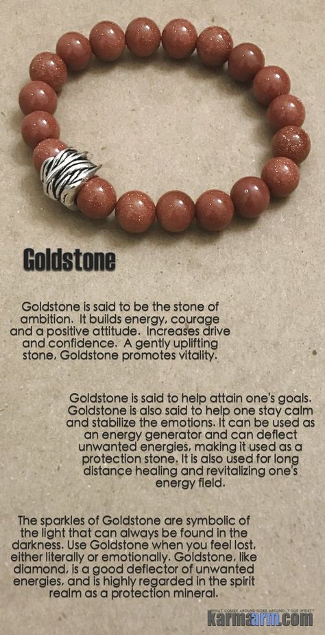 SUCCESS | Goldstone | Yoga Chakra Reiki Healing Bracelet