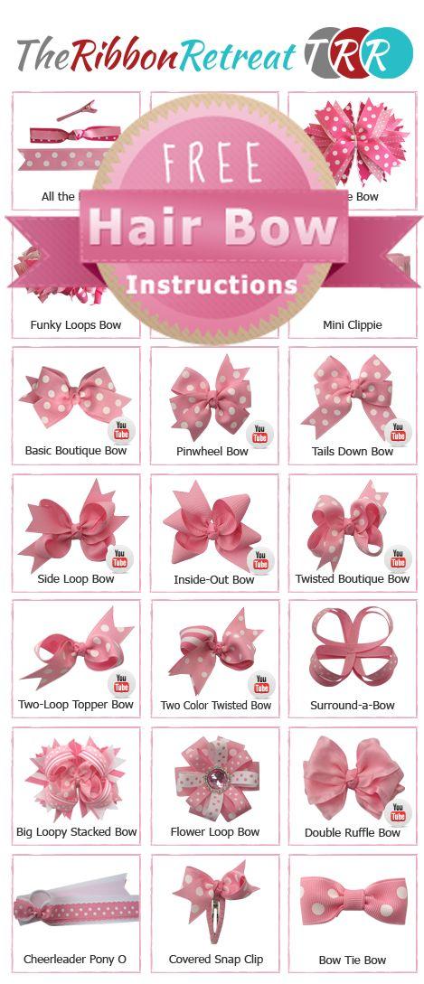 Hair bow tutorials.
