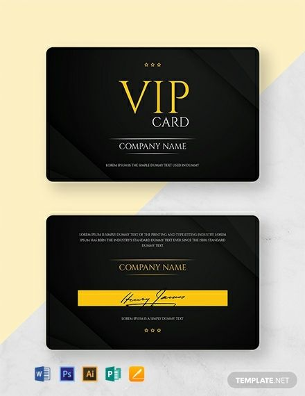 Free Vip Membership Card Template Word Doc Psd Apple Mac Pages Illustrator Publisher Membership Card Vip Card Free Business Card Templates