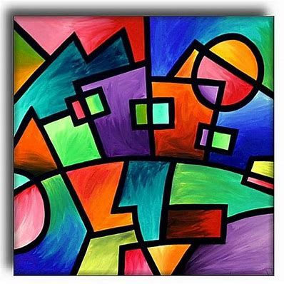 Image Result For Geometric Shapes Paintings In 2019