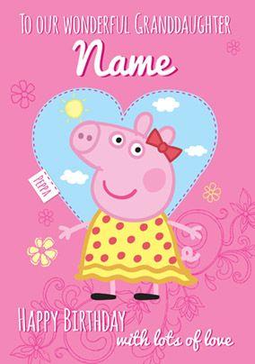 Peppa Pig Birthday Card Wonderful Granddaughter Peppa Pig Happy Birthday Grandaughter Birthday Wishes Pig Birthday