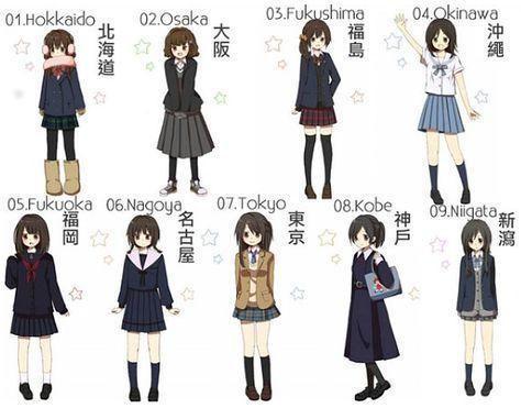 Japanese Dress Code Uniformity School Uniform Anime Anime