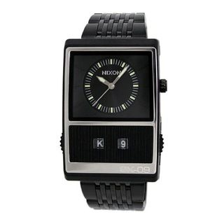 @Overstock.com - Take a break from traditional watch design with this trendy black watch for men from Nixon. The square dial is large and easy to read, and the numberless clock face has a simplistic design. The water-resistant piece features a sturdy push-button clasp.http://www.overstock.com/Jewelry-Watches/Nixon-Mens-Black-Score-Watch/7301114/product.html?CID=214117 $89.99