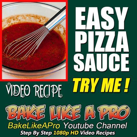 EASY PIZZA SAUCE RECIPE ►►► CLICK PICTURE for video recipe