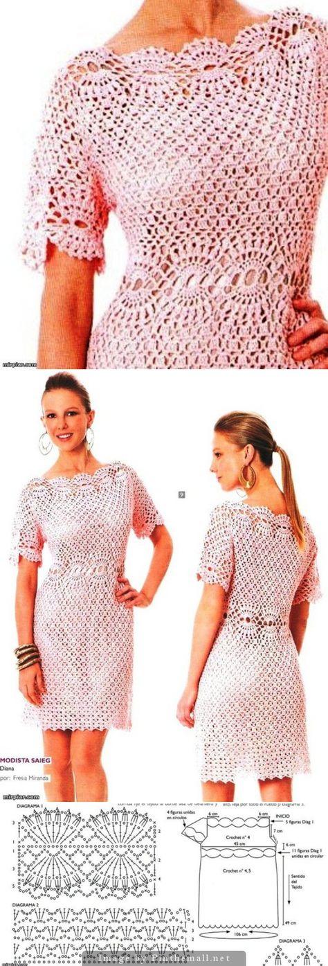 Crochet top/dress. http://www.liveinternet.ru/users/frosinda/post150119004/ - created via http://pinthemall.net