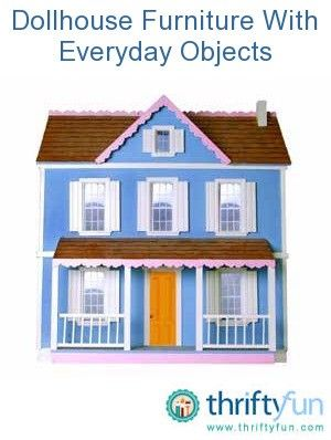 Dollhouse Furniture With Everyday Objects | Dollhouse furniture, Diy barbie  furniture, Doll house