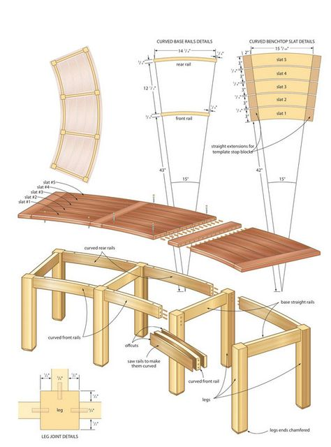 how to build a circular bench - Google Search Woodworking