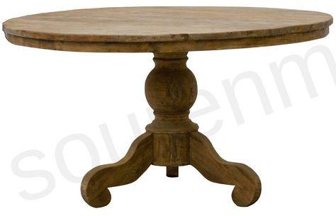 Grote Ronde Teakhouten Tafel.Teak Tafel Rond 160 Cm Oud Hout Eur 1325 Round Tables