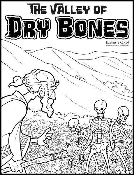 Pages Dry Bones Ezekiel Activity Valley Of Dry Bones Bible For