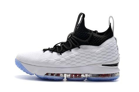 new styles d81e9 66b9e New Mens Nike LeBron 15 Graffiti White Black University Red Basketball Shoes