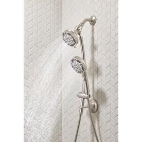 Moen Renewal Spot Resist Brushed Nickel 5 Spray Shower Head And