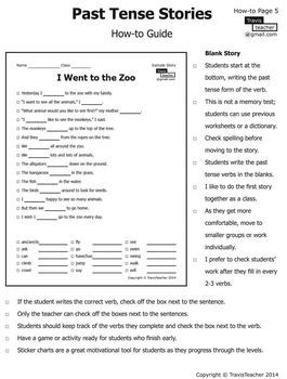 Past Tense Verb Stories 1 10 Past Tense Tenses Verb