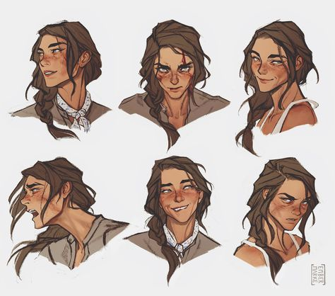 """""""Expressions sheet for Tanya. Character Design Inspiration, Comic Art, Character Drawing, Character Design, Character Art, Character Inspiration, Art Reference Poses, Art Sketches, Character Design References"""