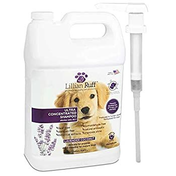 Lillian Ruff Professional Dog Shampoo A Concentrated Dog Shampoo With Aloe Safe For Cats A Tear Free La Best Dog Shampoo Dog Shampoo Dog Shampoo Lavender