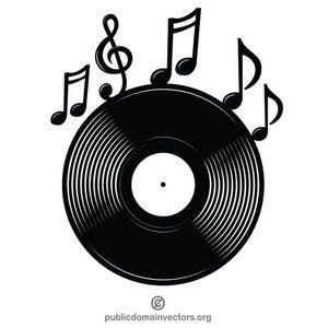 Vinyl Record Music Logotype Vector Image Dischi In Vinile Musica Negozio