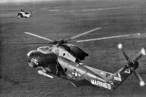 HMR(M)-461 CH-37C Mojave, aka Deuce, tailcode CJ-10 in-flight, circa 1962. Photographer unknown.