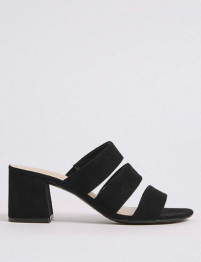 lowest price quality products outlet on sale Block Heel Multi Strap Mule Sandals | Marks & Spencer London ...