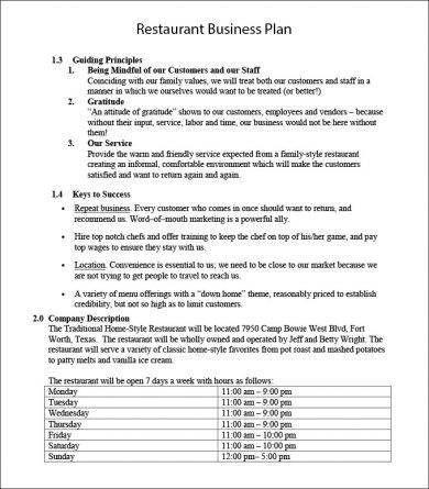 Business Investment Agreement Template Business Plan Template Word Restaurant Business Plan Cafe Business Plan