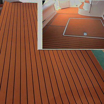 94 X35 Marine Boat Flooring Eva Foam Yacht Teak Decking Sheet Carpet Floor Pad Ebay Teak Yacht Yacht Flooring Teak