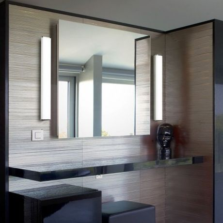 Picture Collection Website bathroom mirror with vertical side lights