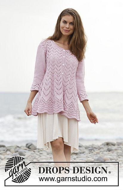 Ravelry 188 24 Lydia Pattern By Drops Design In 2020 Knitting Patterns Free Cardigans Crochet Long Sleeve Tops Drops Design