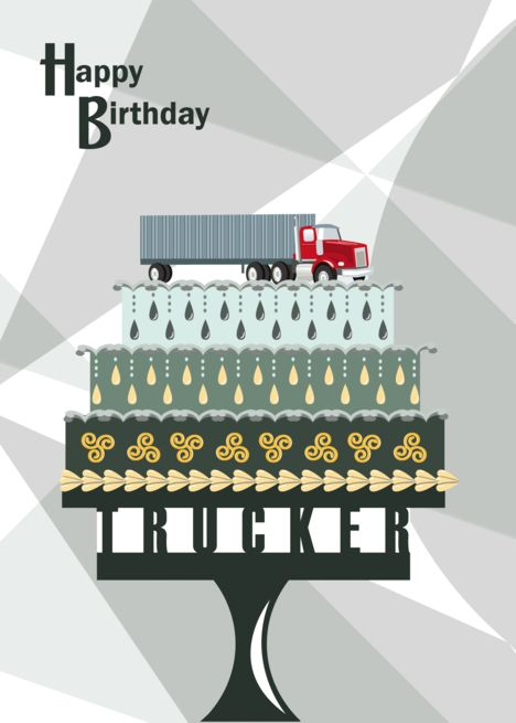 Trucker Birthday : trucker, birthday, Truck, Pedestal, Trucker, Happy, Birthday, #Pedestal,, #Cake,, #Truck,, #Trucker, Cards,, Birthday,, Cards