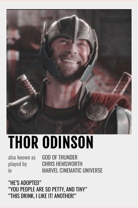 Thor Polaroid Poster