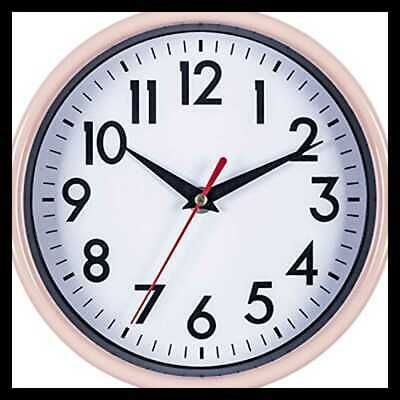 Pink Wall Clock 8 Silent Non Ticking Quality Quartz Battery Operate 8 Inch Fashion Home Garden Homedcor Clocks Ebay Li Pink Wall Clocks Wall Clock Clock