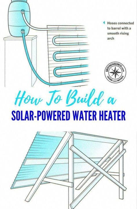 How To Build a Solar-Powered Water Heater — If the power goes out there is very little chance that you can produce enough hot water to fill your needs through wood fire alone. There are many methods of warming water with no power. This could be just the best available. #heater #diyheater #solarpoweredheater #diy #solarwaterheater