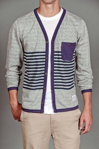 Striped Sweater Cardigan.