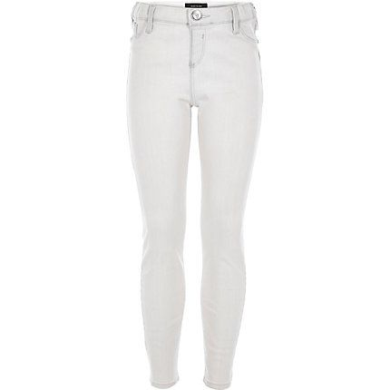 100% top quality retail prices united states Light grey jeggings £20.00 #riverisland #RIkidswear | Girls ripped ...