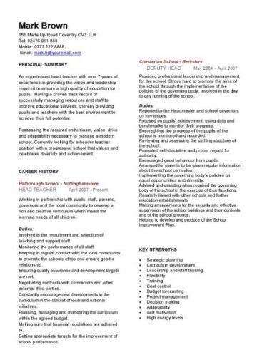 Academic Cv Template Curriculum Vitae Academic Cvs