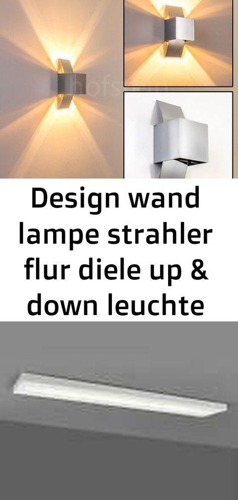 Design Wand Lampe Strahler Flur Diele Up Down Leuchte Schlaf Wohn Zimmer Buro Lampflur Lampsch 3 Decor Lamp Home Decor