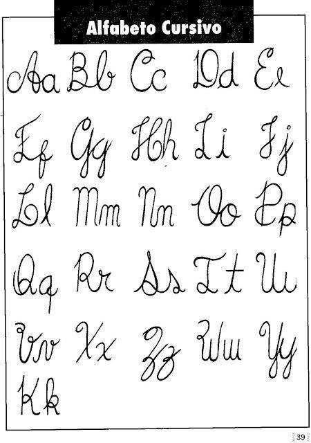 Moldes De Letras Cursivas Para Imprimir Abecedario En Letra Grande Lettering Tutorial Lettering Alphabet Lettering