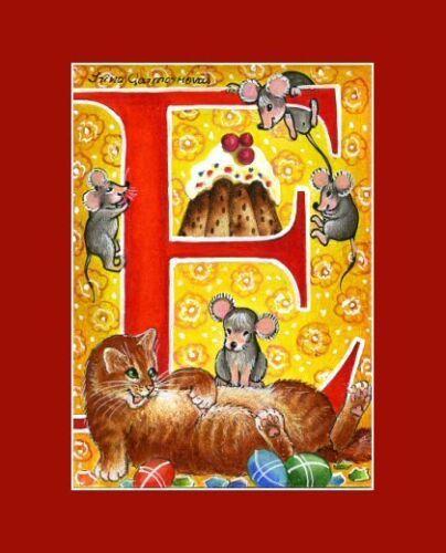 Alphabet Cat ACEO Print Letter I by I Garmashova