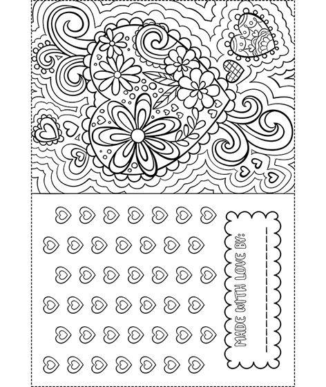 Valentine Card On Crayola Com Valentine Coloring Valentines Day Coloring Valentine Coloring Pages