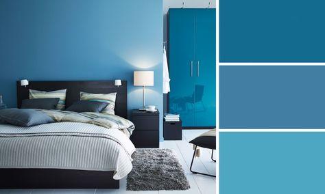 Elegant Chambre Couleur Bleu Peinture