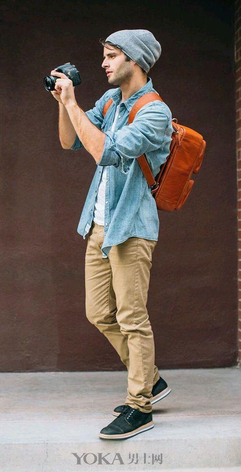 百搭单宁衬衫,打造最时髦的型男Style_街拍_衣装