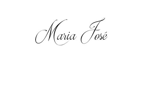 Tatuagem do nome Maria José utilizando o estilo Brotherhood Script Regular