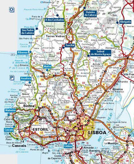 Carte Detaillee Du Portugal En 2020 Carte Portugal Portugal Carte