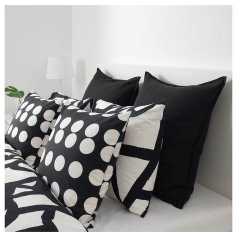 Fodere Per Cuscini 50x50.Klarastina Cushion Cover Black White 20x20 50x50 Cm Nel