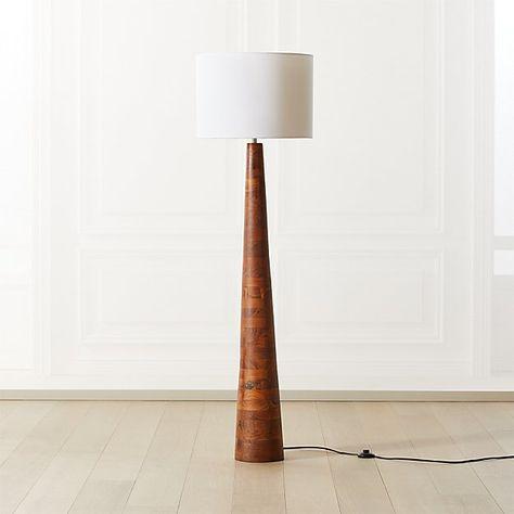 Brixton Acacia Floor Lamp   CB2 in 2020   Contemporary floor