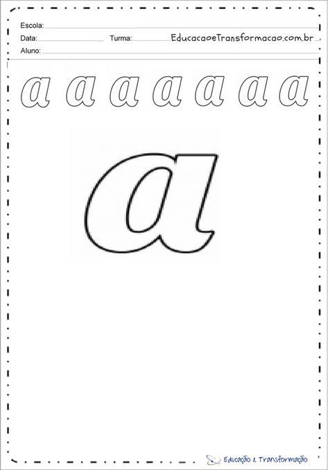 Letra Cursiva A Con Imagenes Cursiva Minusculas