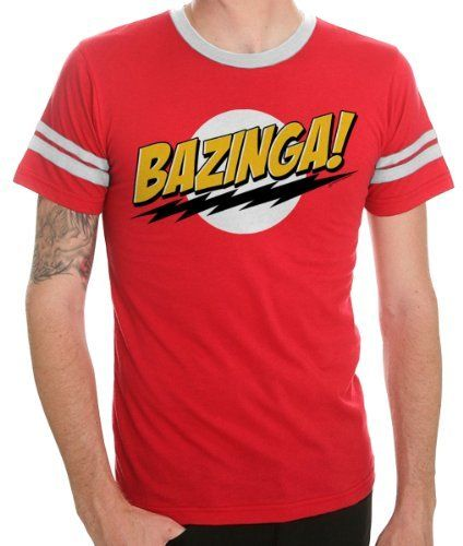 RED ADULT T-Shirt  Officially Licensed Merchandise Big Bang Theory BAZINGZA