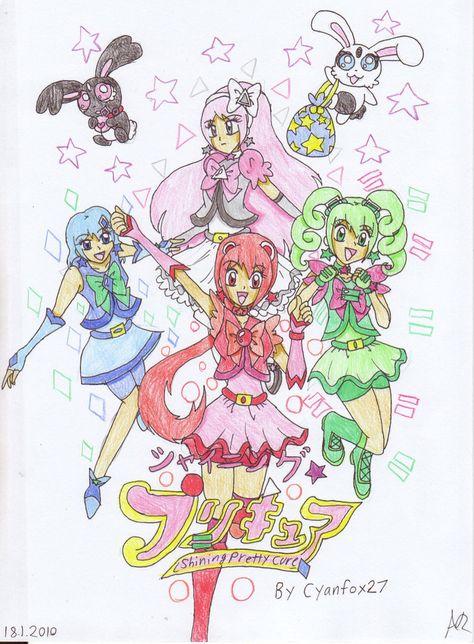 Shining Pretty Cure Poster by AshRob89 on DeviantArt