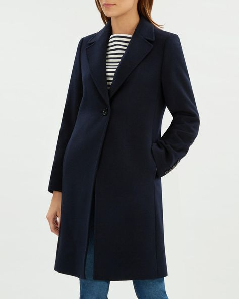Buy Navy Corseted Coat from the Next UK online shop | Coat